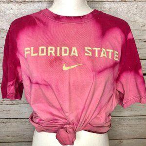 Nike Florida State FSU Bleach Tie Dyed T-Shirt